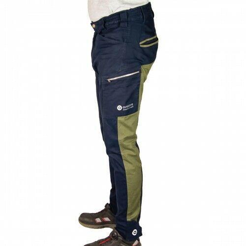 Kombinezony i spodnie robocze, Spodnie do pasa TUBBOS w kolorze granatowo-oliwkowym
