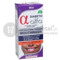 Płyny do płukania ust, ALFA DIABETIC Mild 200ml - specjalistyczna płukanka dla DIABETYKÓW do stosowania bezpośrednio przed i po zabiegach implantacji lub ekstrakcji zęba
