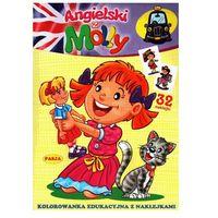 Kolorowanki, Angielski z Molly: Kolorowanka edukacyjna z naklejkami