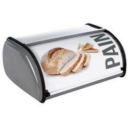 Metalowy chlebak na pieczywo, z napisem PAIN - stal nierdzewna
