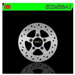 NG086 TARCZA HAMULCOWA KYMCO 50/125/150/250 (220X58X4) (5X10,5MM)
