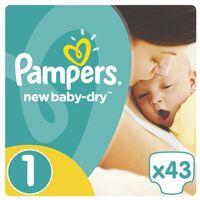 Pieluchy jednorazowe, PAMPERS New Baby-Dry pieluchy 1 Newborn 43szt pieluszki