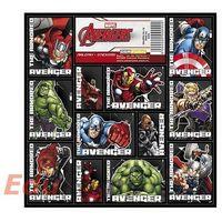 Pozostałe artykuły papiernicze, Naklejki 16x16 cm Avengers [25 szt.]