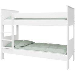 Łóżko piętrowe alba 90x200, białe