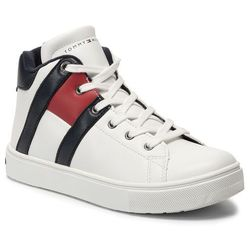 Sneakersy TOMMY HILFIGER - High Top Lace-Up Sneaker T3B4-30510-0739X008 D White/Blue
