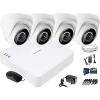 Zestawy monitoringowe, Zestaw do monitoringu HD Hikvision Rejestrator cyfrowy 4 kamery