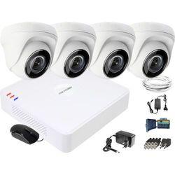 Zestaw do monitoringu HD Hikvision Rejestrator cyfrowy 4 kamery