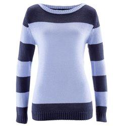 Sweter bonprix niebieski perłowy - ciemnoniebieski