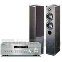 Yamaha MusicCast R-N402D (srebrny), Indiana Line Nota 550 X (czarny dąb)