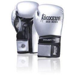 Rękawice bokserskie BOXEUR BXT-5195 Srebrno-czarny (10 oz)