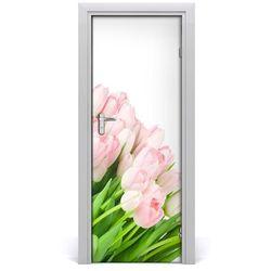 Okleina Naklejka fototapeta na drzwi Różowe tulipany