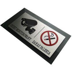 """Tabliczka Ostrzegawcza """"Obiekt Monitorowany i Zakaz Palenia"""""""