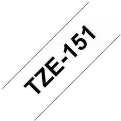 BROTHER Taśmy do drukarek TZ laminowane 24mm x 8m, czarny/przezroczysty