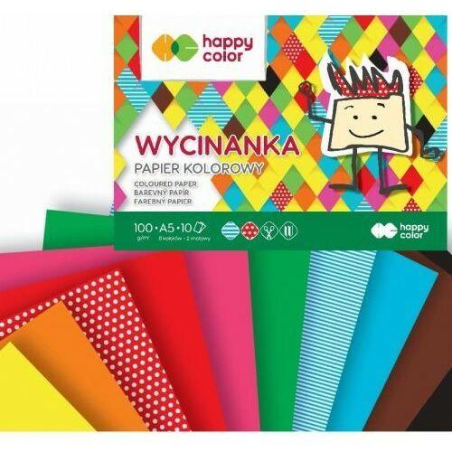 Wycinanki, Blok Wycinanka A5/10K 100g HAPPY COLOR
