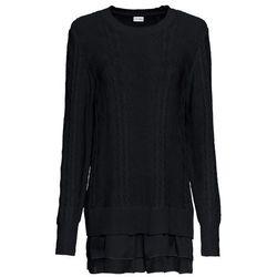 Bożonarodzeniowy sweter dzianinowy bonprix szary melanż