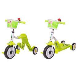 Hulajnoga trójkołowa i rowerek dla dzieci 2w1 Blagrie Worker - zielony