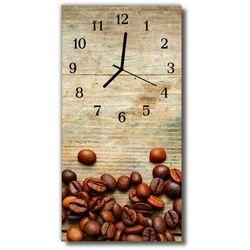 Zegar Szklany Pionowy Kuchnia Ziarna kawy z drewna brązowy