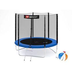 Trampolina ogrodowa 8ft (244cm) z siatką zewnętrzną Hop-Sport -3 nogi - 244 cm \ niebieski