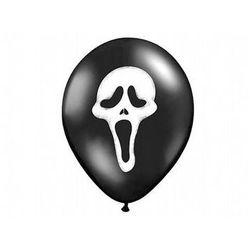 Balony czarne na Halloween - Krzyk - 37 cm - 5 szt.