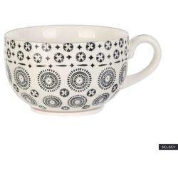 SELSEY Kubek ceramiczny Frechles w ciemny wzór 350 ml