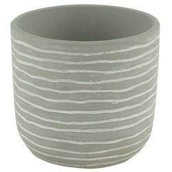Doniczka ceramiczna GoodHome ozdobna 10,5 cm stripe