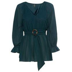 Koszulka z długim rękawem (2 sztuki), bawełna organiczna bonprix turkusowo-niebieski