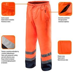 Spodnie robocze wodoodporne pomarańczowe XXXL NEO