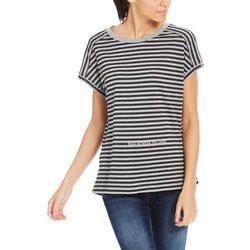 koszulka BENCH - Stripe Print Tee Stripe Winter Grey Marl + Blac (P1095) rozmiar: S
