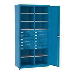 Szafa warsztatowa metalowa 10 półek 12 szuflad zamykana SL 162.21