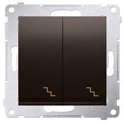 SIMON 54 Łącznik schodowy podwójny z podświetleniem (moduł) 10AX, 250V~, zaciski śrubowe; brąz mat DW6/2L.01/46 WMDL-0612xx-046