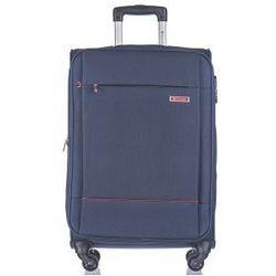 PUCCINI walizka średnia EM50720 z kolekcji PARMA 4 koła materiał poliester zamek szyfrowy możliwość poszerzenia
