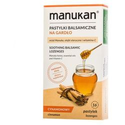 Manukan Miód Manuka pastylki na gardło o smaku cynamonu 16 tabl.