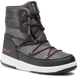 Śniegowce MOON BOOT - Boot Jr Boy Mid Wp 2 34052500002 D Black/Castlerock