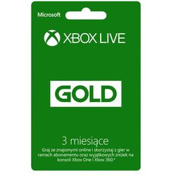 Abonament MICROSOFT XBOX Live Gold na 3 miesiące