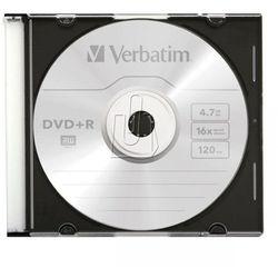 Verbatim DVD+R 4,7GB 16X SLIM CASE1 P Darmowy odbiór w 20 miastach!