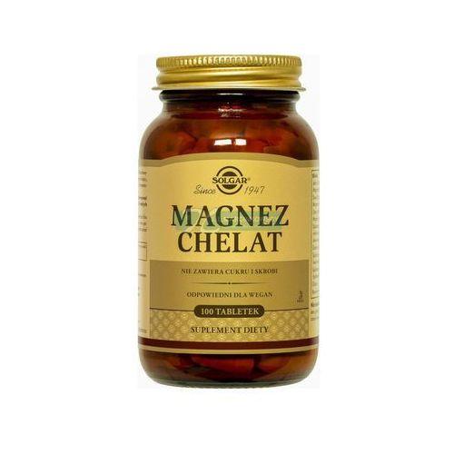 Witaminy i minerały, SOLGAR Magnez chelat aminokwasowy 100 Kapsułek