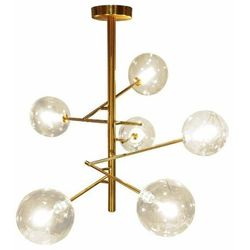 LAMPA sufitowa CGGRAPE6 COPEL szklana OPRAWA kule balls molekuły złote przezroczyste