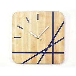 Epoxy Clock - Lines - Zegar ścienny z żywicą