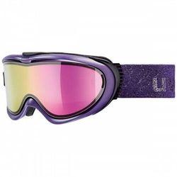 Uvex Comanche TO Purpurowa Mirror Pink, Lasergold Lite/Clear Purpurowa 2018-2019