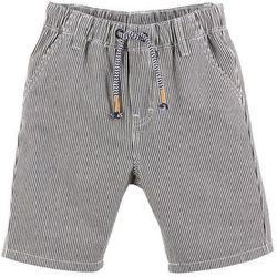 Krótkie spodnie chino w paski bonprix niebiesko-biały w paski