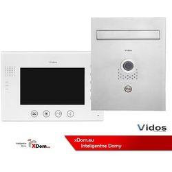 Zestaw VIDOS skrzynka na listy z wideodomofonem. Monitor 7'' S551-SKP_M670W-S2