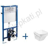 Miski i kompakty WC, ROCA DAMA-N COMPACTO stelaż podtynkowy PRO + miska WC podwieszana Dama-N Compacto, kolor BIAŁY A89009000P