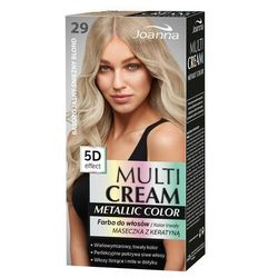 Joanna Multi Cream Metallic Color farba do włosów 29 Bardzo Jasny Śnieżny Blond