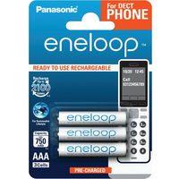 Akumulatorki, Akumulatorki Panasonic Eneloop R03 AAA 800mAh for DECT BK-4MCCE/3DE (blister) 3 sztuki