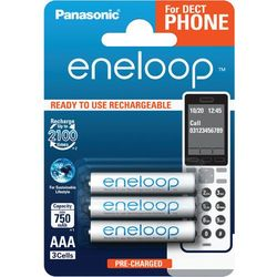Akumulatorki Panasonic Eneloop R03 AAA 800mAh for DECT BK-4MCCE/3DE (blister) 3 sztuki