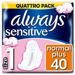 Always Ultra Sensitive Normal Plus Podpaski higieniczne 40 sztuk