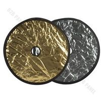 Blendy fotograficzne, GlareOne Blenda 2w1 srebrno złota, 60cm, z otworem