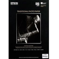 "Epson C13S045055 Traditional Photo Paper, 24"" x 15 m, 300 g/m2"