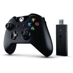 Gamepad Microsoft Xbox One +Wireless Adapter dla systemu Windows 10 (CWT-00003) Czarny