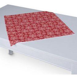 Dekoria Serweta 60x60 cm, białe śnieżynki na czerwonym tle, 60 × 60 cm, Christmas